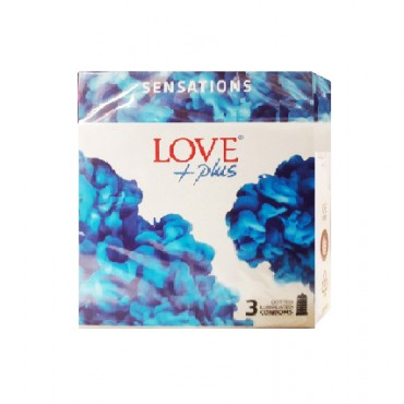 Prezervative Love Plus Sensations, 3 bucati