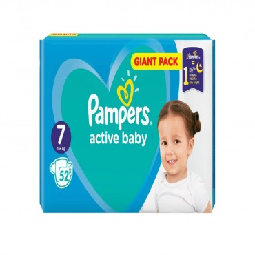 Scutece Pampers Active Baby Extra Large nr.7 52/set