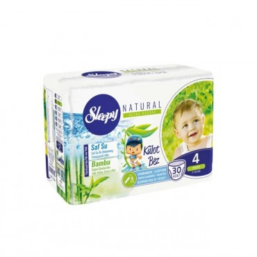 Scutece Chilotel Sleepy Natural Ultra Sensitive Nr 4, 7-14kg, 30 bucati