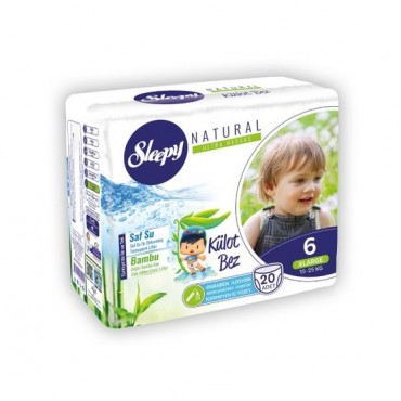 Scutece Chilotel Sleepy Natural Ultra Sensitive Nr 6, 15-25kg, 20 bucati